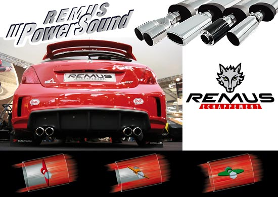 POWER SOUND REMUS pour PEUGEOT 207